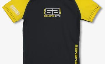 Charcoal & Yellow Rash Vest