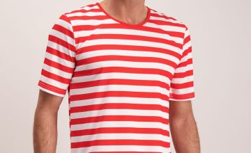 Where's Wally Red & White Costume Set