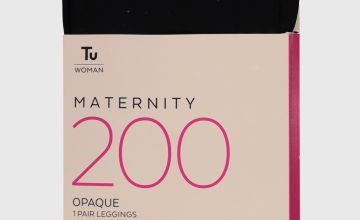 Maternity Black 200 Denier Opaque Leggings