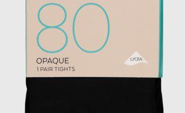 Maternity Black Opaque Tights 80 Denier