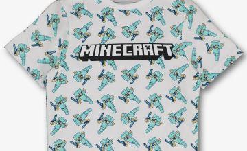 Minecraft White T-Shirt