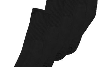Black Sports Ankle Socks With Arch Support 5 Pack