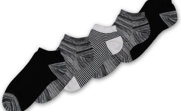 Monochrome Stay Fresh Trainer Socks 5 Pack
