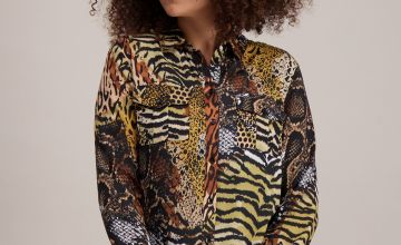 Multicoloured Animal Print Shirt