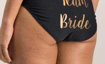 Black Team Bride Bikini Briefs