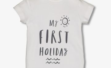 White 'First Holiday' Bodysuit