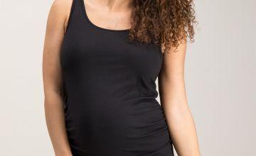 Maternity Black Vest Top
