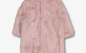 Pink Teddy Faux Fur All In One