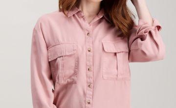 Dusky Pink Tencel Shirt