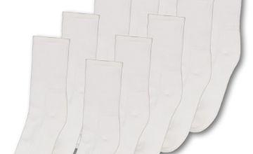 White Sports Ankle Socks 10 Pack