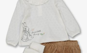 Peter Rabbit Cream & Brown 3 Piece Set