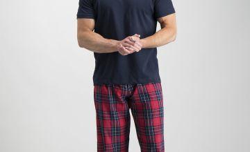 Online Exclusive Navy & Red Check Pyjama Set