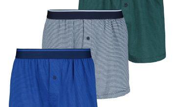 Multicoloured Fine Stripe Jersey Boxers 3 Pack