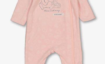 Peter Rabbit Pink Fleece All In One
