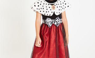 Disney 101 Dalmatians Cruella Dress & Wig - 11-12 years