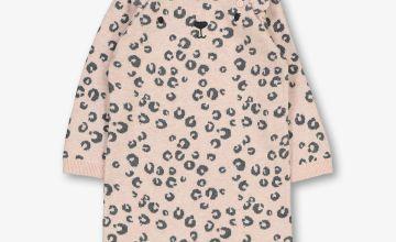 Pink & Grey Animal Print Romper