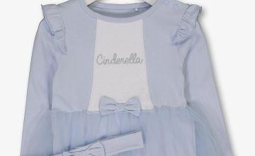 Disney Princess Cinderella Blue Tutu Bodysuit