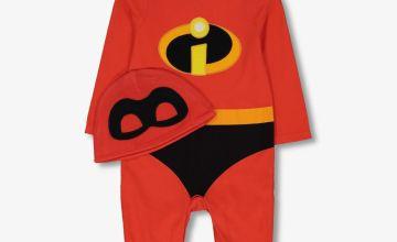 Disney Pixar The Incredibles Red Sleepsuit Set