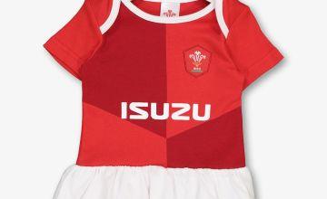 Welsh Rugby Red Tutu Bodysuit