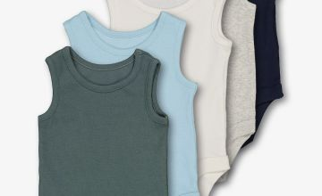 Multicoloured Rib Plain Bodysuits 5 Pack