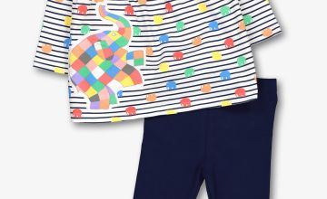 Elmer Blue Top & Leggings Set