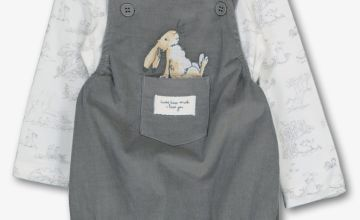 Guess How Much I Love You Grey Bibshorts Set