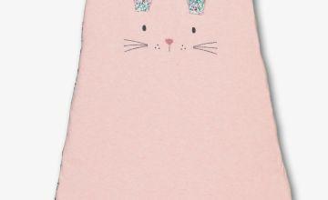 Pink Bunny & Floral Print Sleep Bag 2.5 Tog