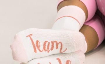 Pink Team Bride Ankle Socks - One Size