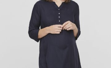 MAMALICIOUS Maternity Navy Blue Tunic