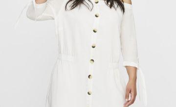 JUNAROSE White Bardot Dress