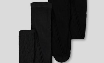 Black Cable Super Soft Tights 3 Pack