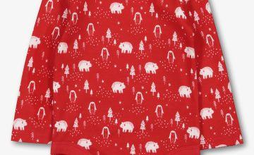 Christmas Red Polar Bear Bodysuit
