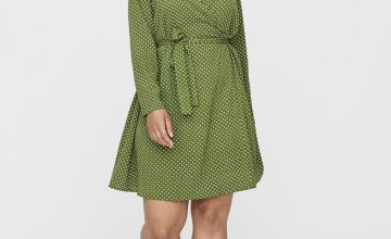 Green Spotted Dress