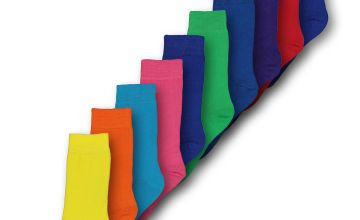 Multicoloured Solid Brights Socks 10 Pack - 9-12