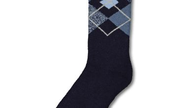 SOCKSHOP HEAT HOLDERS Blue Argyle Lite Thermal Sock - 6-11