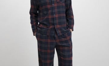 Navy Check Traditional Pyjamas
