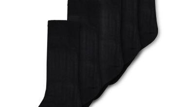 Black Stay Fresh Ankle Socks 7 Pack - 9-12