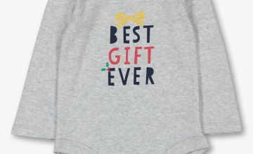 Christmas Grey 'Best Gift Ever' Long Sleeve Bodysuit