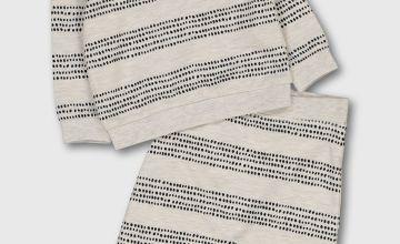 Cream Dotty Stripe Sweatshirt & Joggers