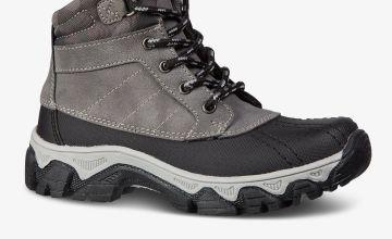 Black & Grey Duck Boots