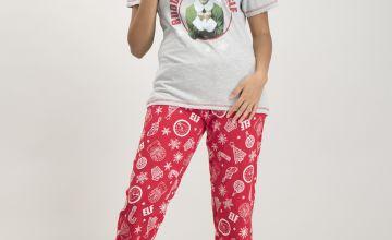 Christmas Elf Grey & Red Pyjamas