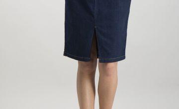 Dark Denim Pencil Skirt