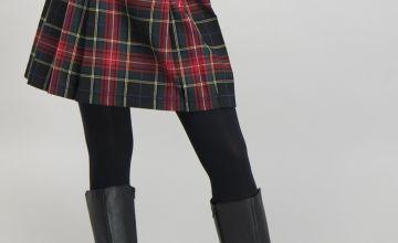 Red Check Mini Skirt