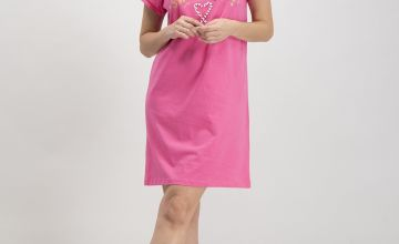 Pink Sweetness Candy Cane Nightdress