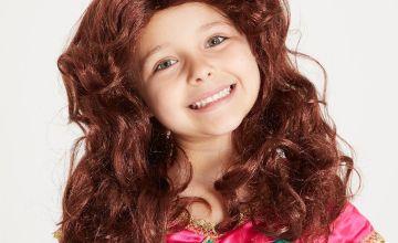 Disney Princess Belle Brown Wig - One Size