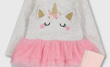 Pink Unicorn Tutu Bodysuit & Tights