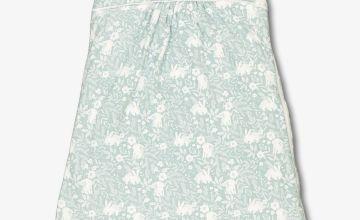 Blue Vintage Bunny Sleeping Bag