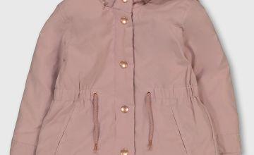 Pale Pink Parka Coat