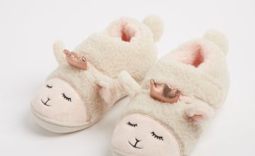 Cream Sheep Cupsole Slippers