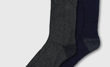 Navy & Grey 'Extra Warm' Blister Resistant Socks 2 Pack
